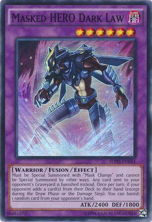 Masked HERO Dark Law - SDHS-EN044 - Super Rare - Unlimited Edition
