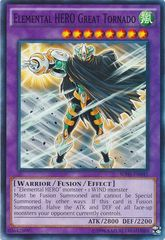 Elemental HERO Great Tornado - SDHS-EN045 - Common - Unlimited Edition