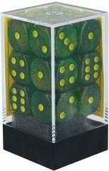 Borealis Maple Green and Yellow 16mm d6 Dice Block - CHX27765