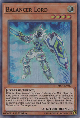 Balancer Lord - MYFI-EN047 - Super Rare - 1st Edition