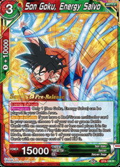 Son Goku, Energy Salvo - BT8-106 - R - Pre-release (Malicious Machinations)