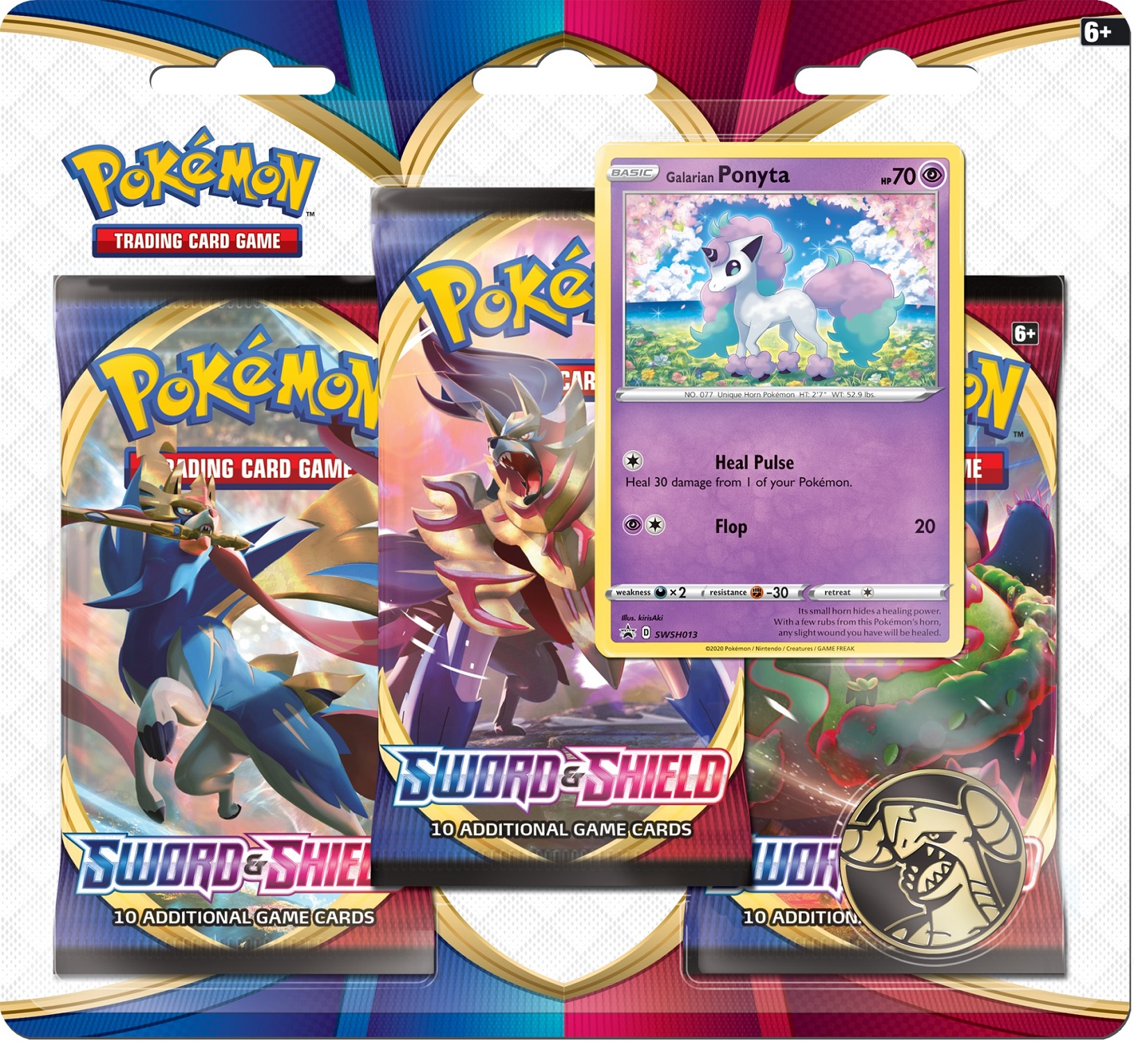 Sword & Shield - Base Set 3 Pack Blister - Ponyta