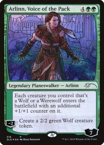 Arlinn, Voice of the Pack - Foil - Stained Glass