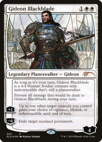 Gideon Blackblade - Foil - Stained Glass