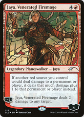 Jaya, Venerated Firemage - Foil - Stained Glass