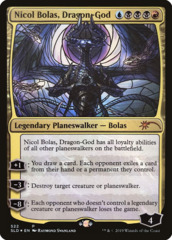 Nicol Bolas, Dragon-God - Foil - Stained Glass