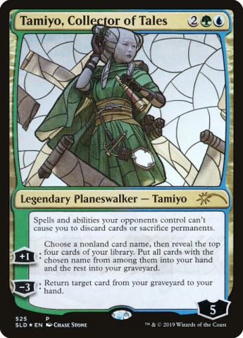 Tamiyo, Collector of Tales - Foil - Stained Glass