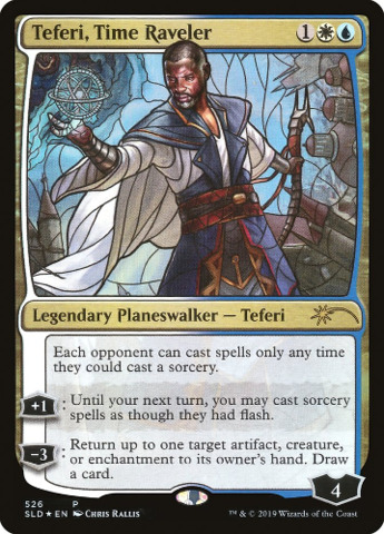Teferi, Time Raveler - Foil - Stained Glass