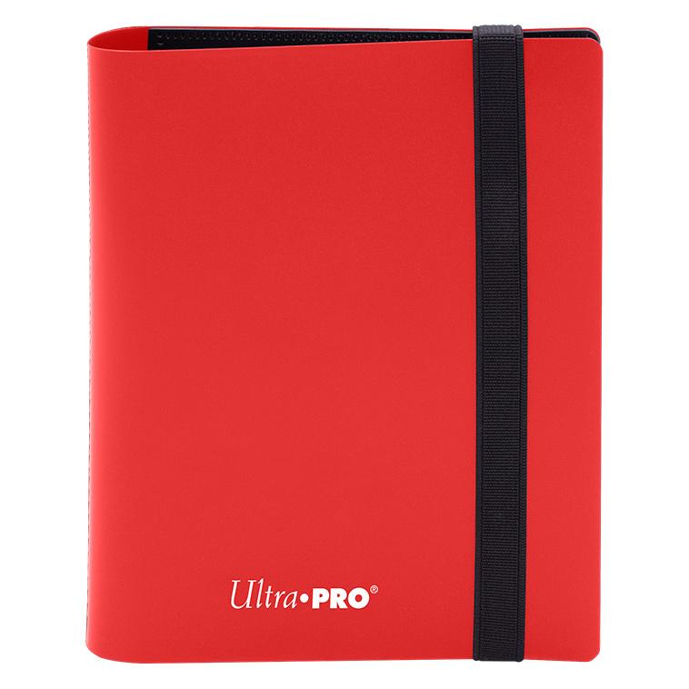 Ultra Pro - Eclipse 4-Pocket PRO-Binder (Holds 160 Cards Total) - Apple Red