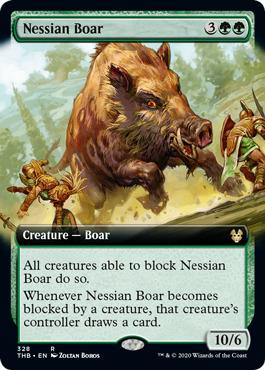 Nessian Boar (Extended Art) - Foil