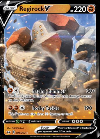 Regirock V - 104/202 - Ultra Rare