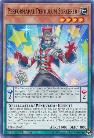 Performapal Pendulum Sorcerer - LED6-EN051 - Common - 1st Edition