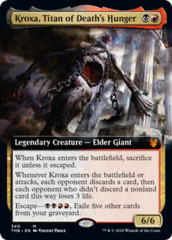 Kroxa, Titan of Death's Hunger - Foil - Extended Art