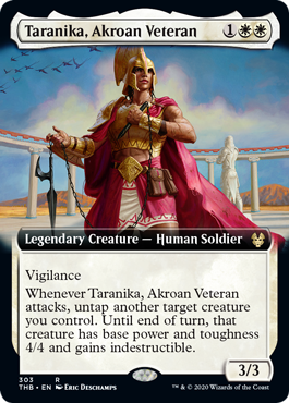 Taranika, Akroan Veteran - Foil - Extended Art