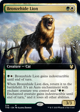 Bronzehide Lion (Extended Art) - Foil