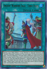 Ancient Warriors Saga - Three Visits - IGAS-EN055 - Ultra Rare - 1st Edition