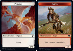 Pegasus Token // Satyr Token - Foil