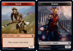 Zombie // Satyr Double-sided Token - Foil