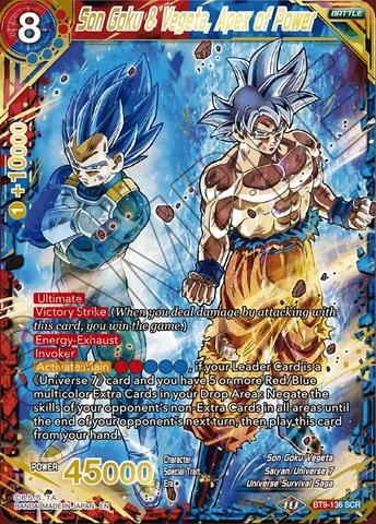 Son Goku & Vegeta, Apex of Power - BT9-136 - SCR