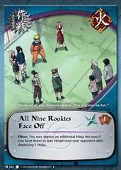 All Nine Rookies Face Off - M-063 - Uncommon - Unlimited Edition - Diamond Foil