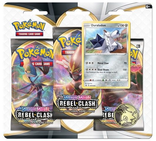 Sword & Shield - Rebel Clash 3 Pack Blister - Duraludon