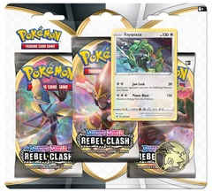 Sword & Shield - Rebel Clash 3 Pack Blister - Rayquaza