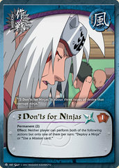 3 Don'ts for Ninjas - M-187 - Common - Unlimited Edition - Diamond Foil