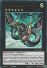 Cyber Dragon Infinity (alternate art) - DUOV-EN059 - Ultra Rare - 1st Edition on Channel Fireball