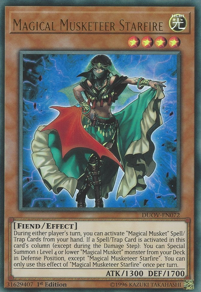 Magical Musketeer Starfire - DUOV-EN072 - Ultra Rare - 1st Edition