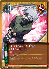 A Thousand Years of Death - J-US009 - Common - Unlimited Edition - Wavy Foil