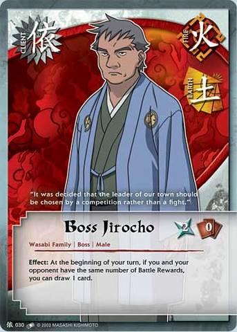 Boss Jirocho - C-030 - Common - 1st Edition - Diamond Foil ...