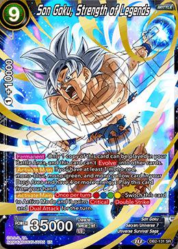 Son Goku, Strength of Legends - DB2-131 - SR