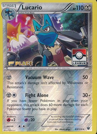 Lucario - 63/124 - Pokemon League Promo (1st Place)
