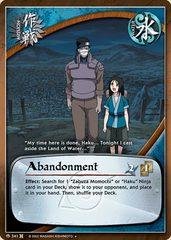 Abandonment - M-341 - Uncommon - 1st Edition - Foil