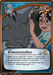 Communication - M-326 - Uncommon - 1st Edition - Foil
