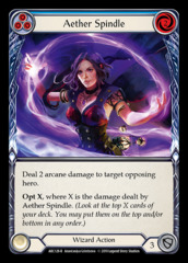 Aether Spindle (Blue) - Rainbow Foil - 1st Edition