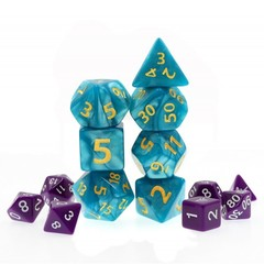 HD Polyhedral 7 Dice Set Blue Giant Pearl