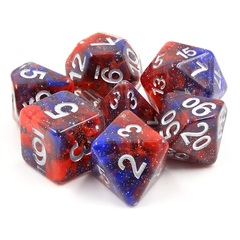 HD Polyhedral 7 Dice Set Fire and Ice
