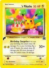 Birthday Pikachu - 24 - World Collection (Tail Stamp)