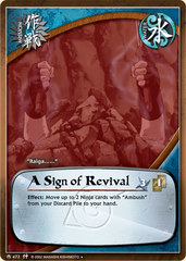 A Sign of Revival - M-472 - Uncommon - 1st Edition - Foil