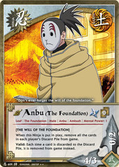 Anbu (The Foundation) - N-609 - Rare - Unlimited Edition - Foil