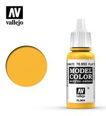VAL70953 Vallejo Model Color Flat Yellow 17ml (015)