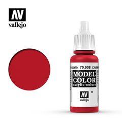 VAL70908 Vallejo Model Color Carmine Red 17ml (030)
