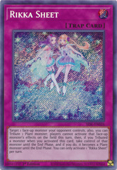 Rikka Sheet - SESL-EN026 - Secret Rare - 1st Edition