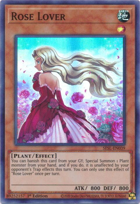 Rose Lover - SESL-EN039 - Super Rare - 1st Edition