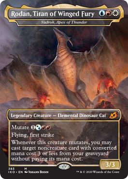 Rodan, Titan of Winged Fury - Vadrok, Apex of Thunder - Foil