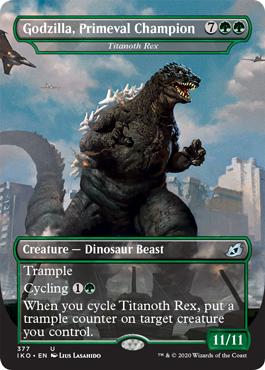 Godzilla, Primeval Champion - Titanoth Rex - Foil