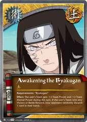 Awakening the Byakugan - J-712 - Uncommon - Unlimited Edition - Foil