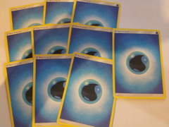 20 Basic Water Energy Cards (Sun & Moon Series Design, Unnumbered)