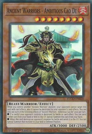 Ancient Warriors - Ambitious Cao De - ETCO-EN020 - Super Rare - 1st Edition